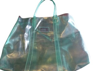 Nicole Miller Clear Plastic Jelly Tote in Green