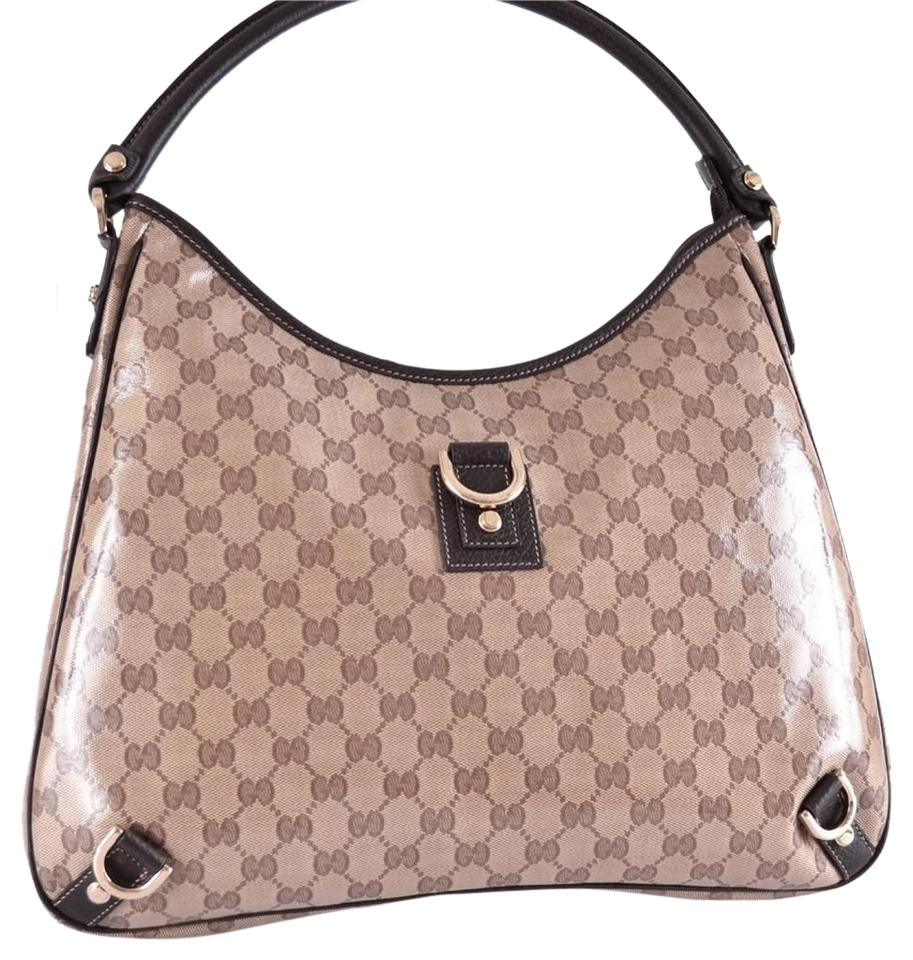 78c92d894c1d Gucci Large Crystal Canvas Gg Guccissima D Ring Abbey Purse New 268636 Hobo  Bag Image 0 ...