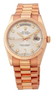Rolex Rolex Day-date 18k Rose Gold Watch with Diamonds