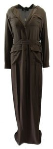Brown Maxi Dress by Gucci Nwd 336218 Womens