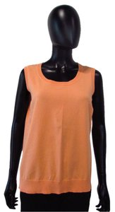Talbots Orange Sleeveless Pima Cotton Top