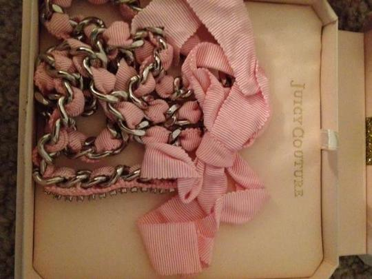 Juicy Couture Juicy Couture pink ribbon necklace