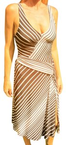 BCBGMAXAZRIA short dress Black and White Bcbg Stripes on Tradesy