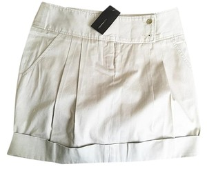 BCBGMAXAZRIA Mini Cotton Mini Skirt Khaki