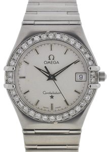 Omega Omega Constellation Stainless Steel Diamonds Bezel Watch