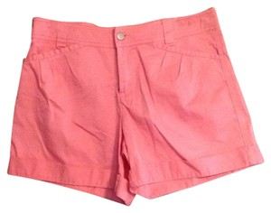 Moda International Cuffed Shorts Salmon