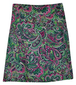 Talbots Paisley A-line Career Casual Skirt