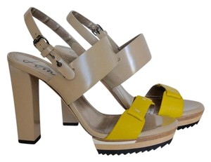 Lanvin Beige and Yellow Sandals