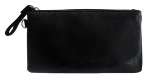 Aurielle Carryland NEW WOT! Black Leather baggie / coin purse.