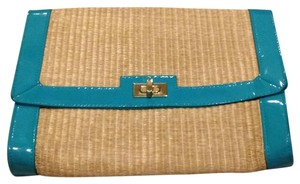 H&M Tan & Blue Clutch