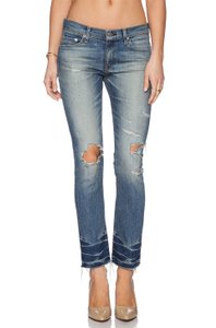 Rag & Bone & Crop Distressed Skinny New Skinny Jeans-Distressed