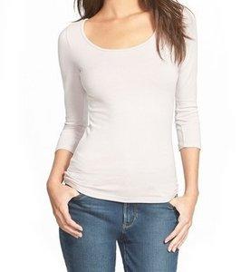 Frenchi 3/4 Sleeve Basic Cotton With Tags 3246-5464 T Shirt