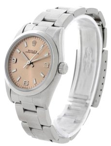 Rolex Rolex Midsize Oyster Perpetual Salmon Dial Steel Watch