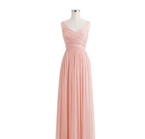 J.Crew Misty Rose Heidi Long Dress In Misty Rose Dress