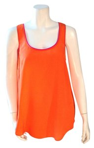 Maeve Orange Silk Anthropologie Top Orange, Pink