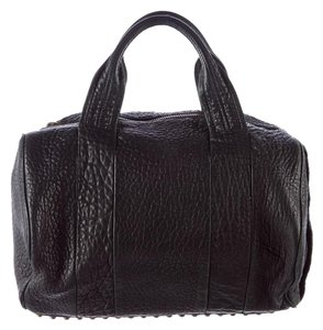 Alexander Wang Pebbled Leather Studded Satchel in Black
