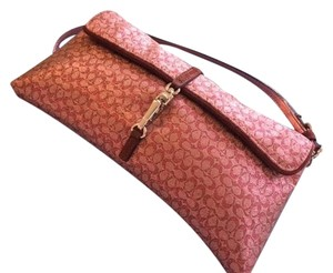 Coach Evening Wristlet Pink Clutch