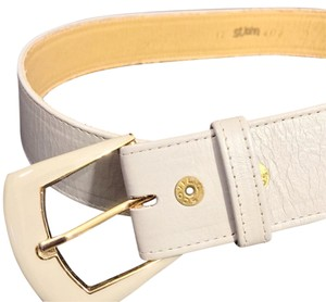St. John St. John Vintage Blue Leather Belt