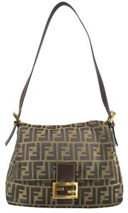 Fendi Monogram Forever Mama Vintage Zucca Monogram Canvas Shoulder Bag