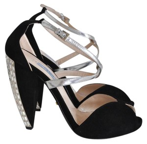 Prada Black with Crystals Sandals