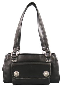 Marc Jacobs Vintage Zip Snap Silver Contrast Stitch Shoulder Bag