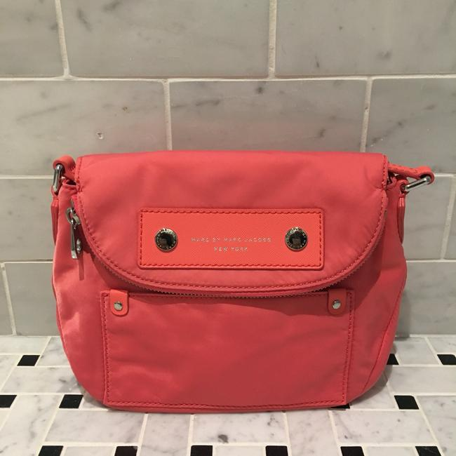 Item - 'preppy Natasha - Mini' Salmon Nylon Cross Body Bag