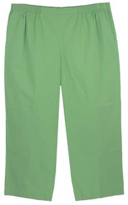 Alfred Dunner Straight Pants Green