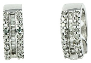 Diamond Earrings Diamond Earrings 0.46 Carat Total Weight in 10K white gold.