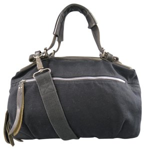 Dries van Noten Canvas Utility Rare Doctor's Unisex Satchel in Black