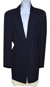 Dana Buchman Ahoy! Long Navy Blazer W/Winter White 8 Button Skirt SEE PICS NWT