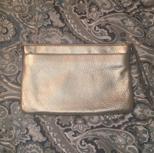 Fossil Leather Gold Clutch