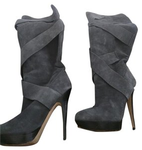 Steve Madden Over The Knee Boot Suede Grey Boots