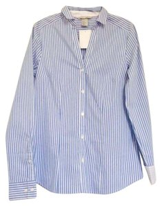 H&M Button Down Shirt Blue & white striped