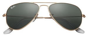 Ray-Ban NEW! Small Aviator RB3044 Sunglasses, Gold, 52mm