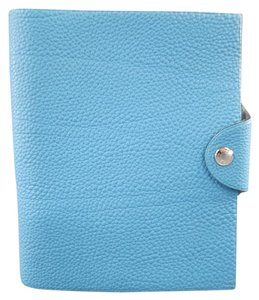 Hermès Blue Textured Leather ULYSSE Agenda Cover