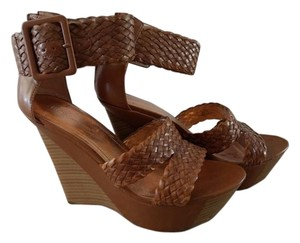BCBGeneration Woven Wedge Two-tone Brown Wedges