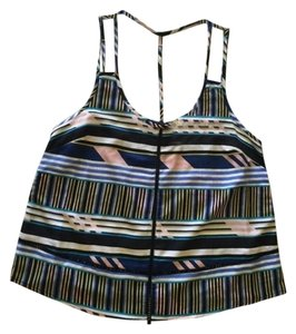 Jessica Simpson Striped Strappy Night Out Summer Casual multi Halter Top
