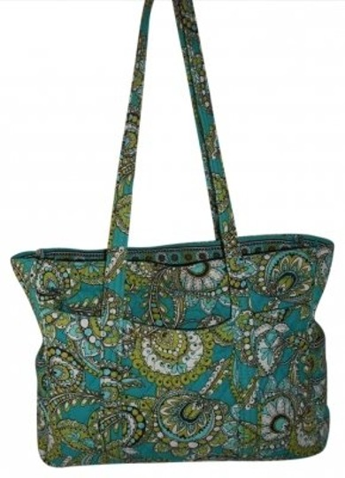 Preload https://item5.tradesy.com/images/vera-bradley-peacock-lime-aqua-white-and-brown-quilted-shoulder-bag-186064-0-0.jpg?width=440&height=440