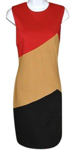 David Meister Soft Fabfic Color Block Dress
