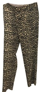 Banana Republic Straight Pants Leopard Print