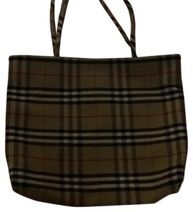 Burberry London Tote in Traditional Burberry Plaid( Tan, Black, Red & Cream)