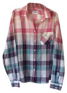 American Eagle Outfitters Button Down Shirt Multicolored