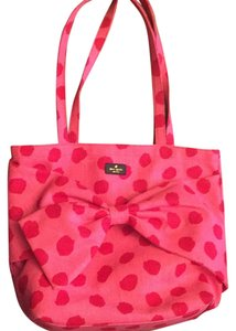 Kate Spade Cotton Canvas Tote in Pink