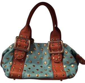 Guess Tote in Tan And Aqua
