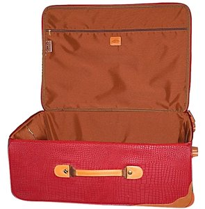 Bric's Summer New York Crocodile Red Travel Bag