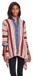 Knox Rose Marled Stripe Layering Casual Draped Festival Cardigan