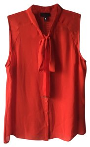 Worthington Poppy Sheer Semi Sheer Top red