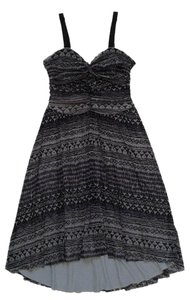 Free People short dress Black / Grey / Purple on Tradesy