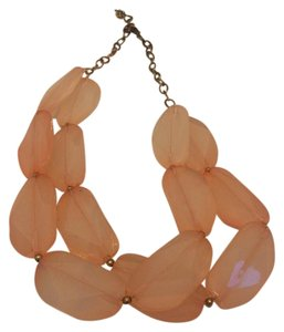 Express Pink and gold bib necklace