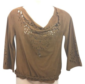 SATRINSHA Stretchy Brown Top